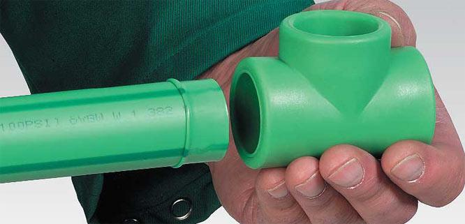 зеленая полипропиленовая труба
