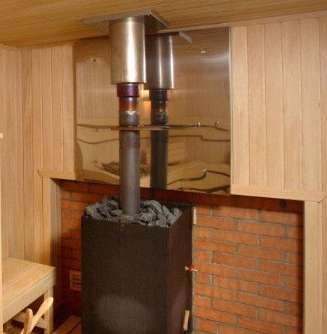 Банная печь и дымоход