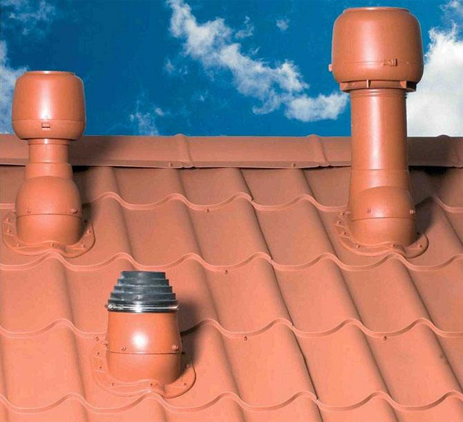 выводы на крыше