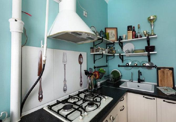 маскировка кухонных труб