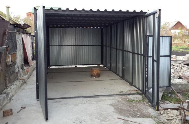 односкатный гараж