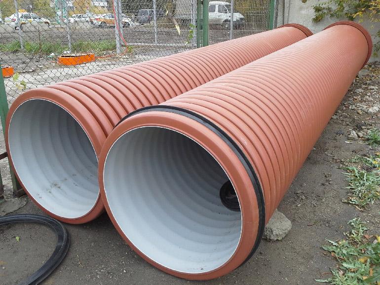 гофрированные трубы большого диаметра