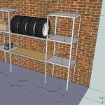 схема стеллажа в гараж